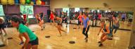 YMCA members working out in fitness class at the Hilltop Family YMCA