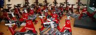 Group cycling studio at the Princess Anne Family YMCA