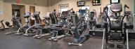 Cardio equipment including treadmills, bikes and ellipticals in the wellness center at the YMCA of South Boston/Halifax County