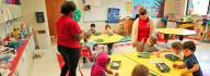 Preschoolers in class at the Portsmouth FamilY YMCA