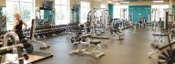 Free weight area in the wellness center at the Princess Anne Family YMCA