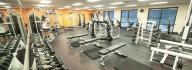 Free weight center at the Albemarle Family YMCA