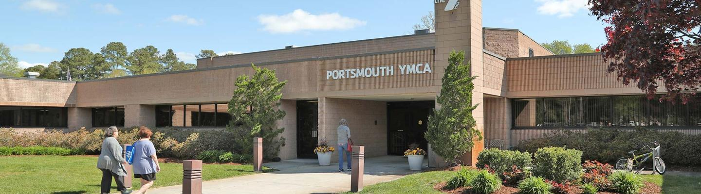 Front entrance of the Portsmouth Family YMCA