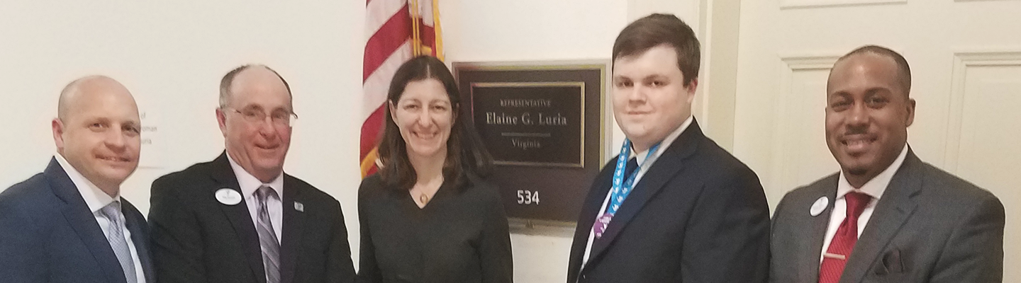 YMCA leadership and youth in government participant with Representative Elaine Luria