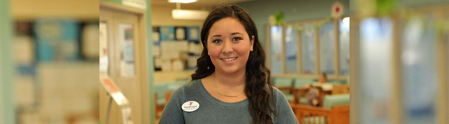 A photo of Samantha Haynie, Membership Coordinator at the Outer Banks Family YMCA