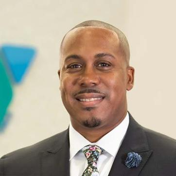 A photo of Anthony Walters, just after being selected as the new President and CEO of the YMCA of South Hampton Roads