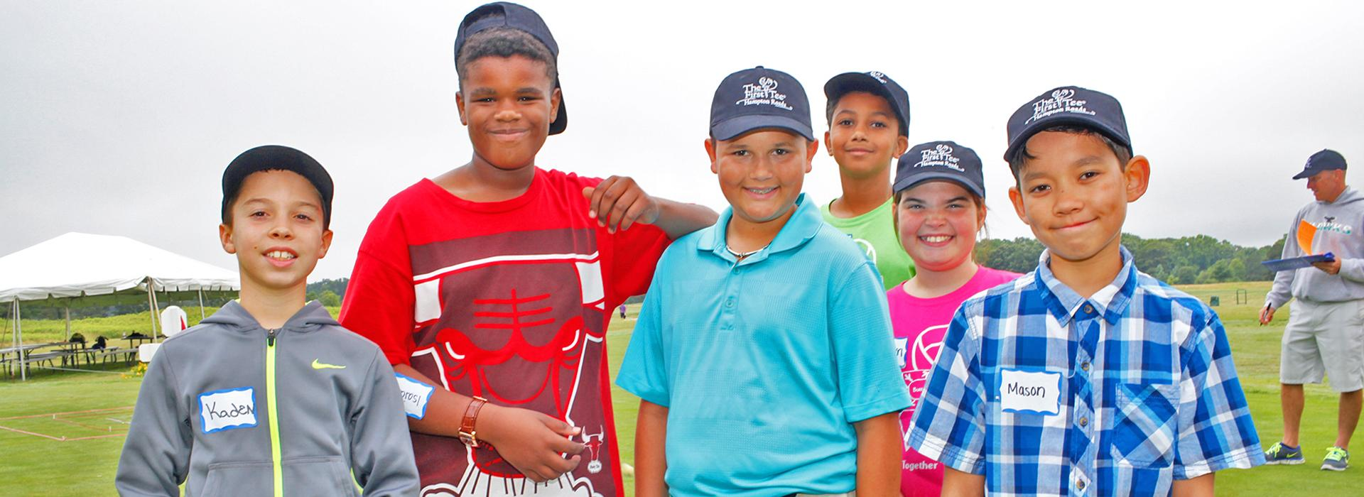 The First Tee of Hampton Roads children smiling