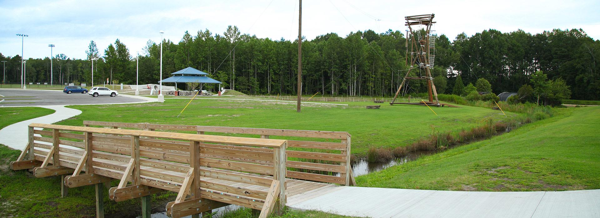 wide shot of grass and outdoor area from Currituck Y