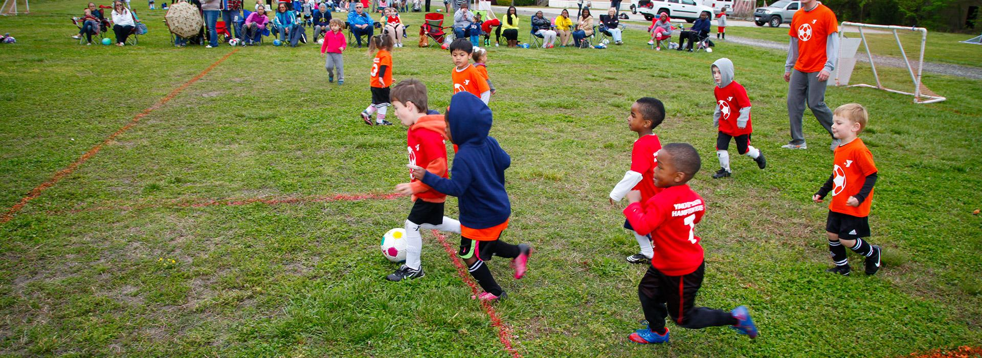 Greenbrier Family YMCA kids playing soccer