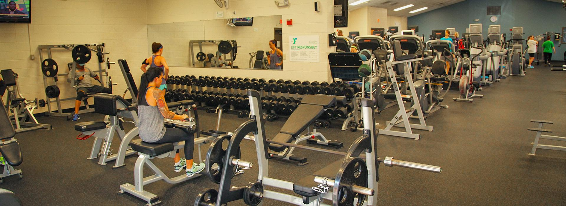 Greenbrier Family YMCA weight room