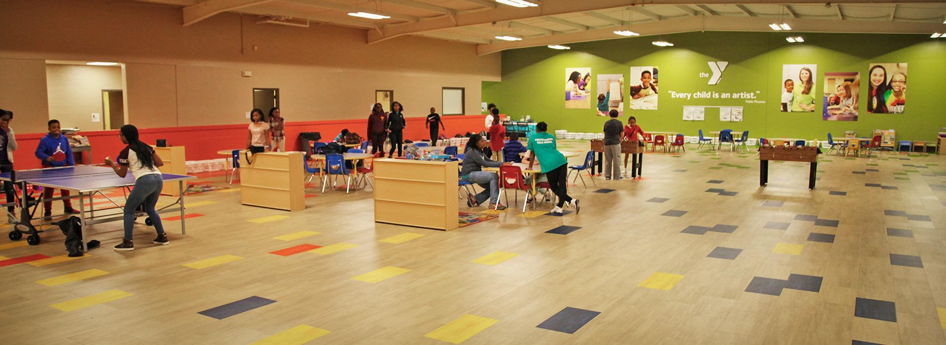 childcare room at Suffolk Family YMCA