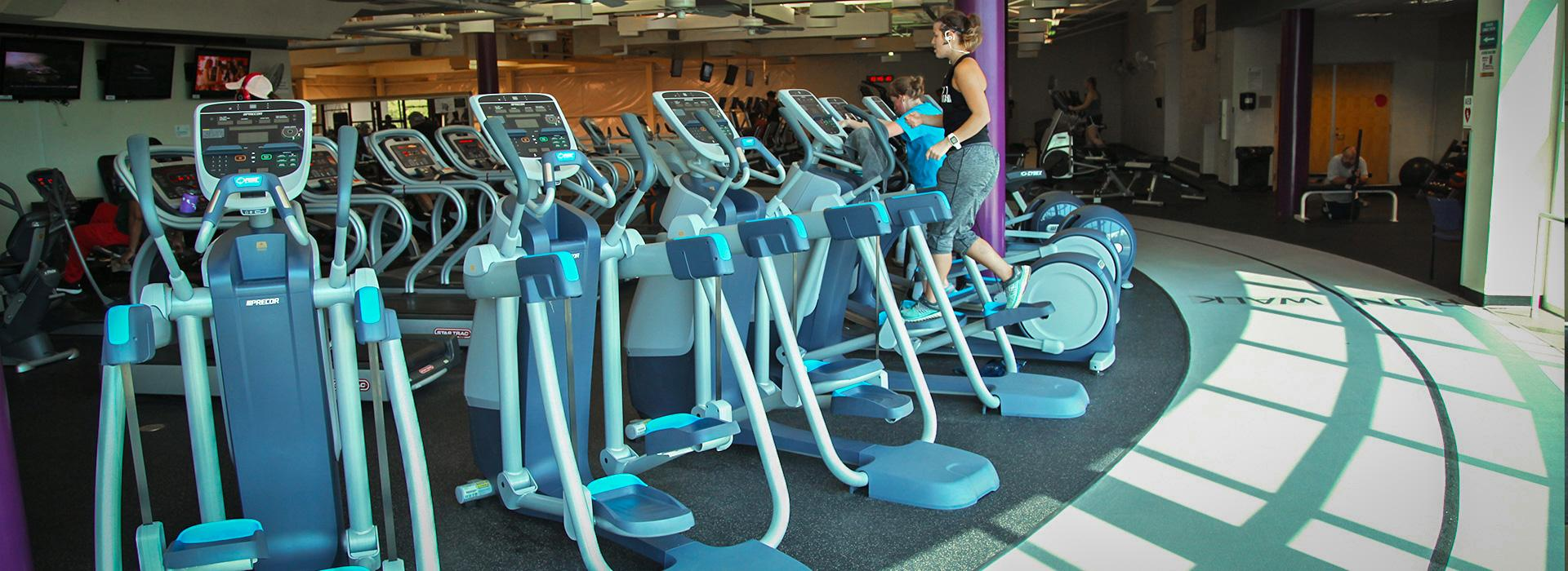 Taylor Bend Family YMCA people on cardio equipment