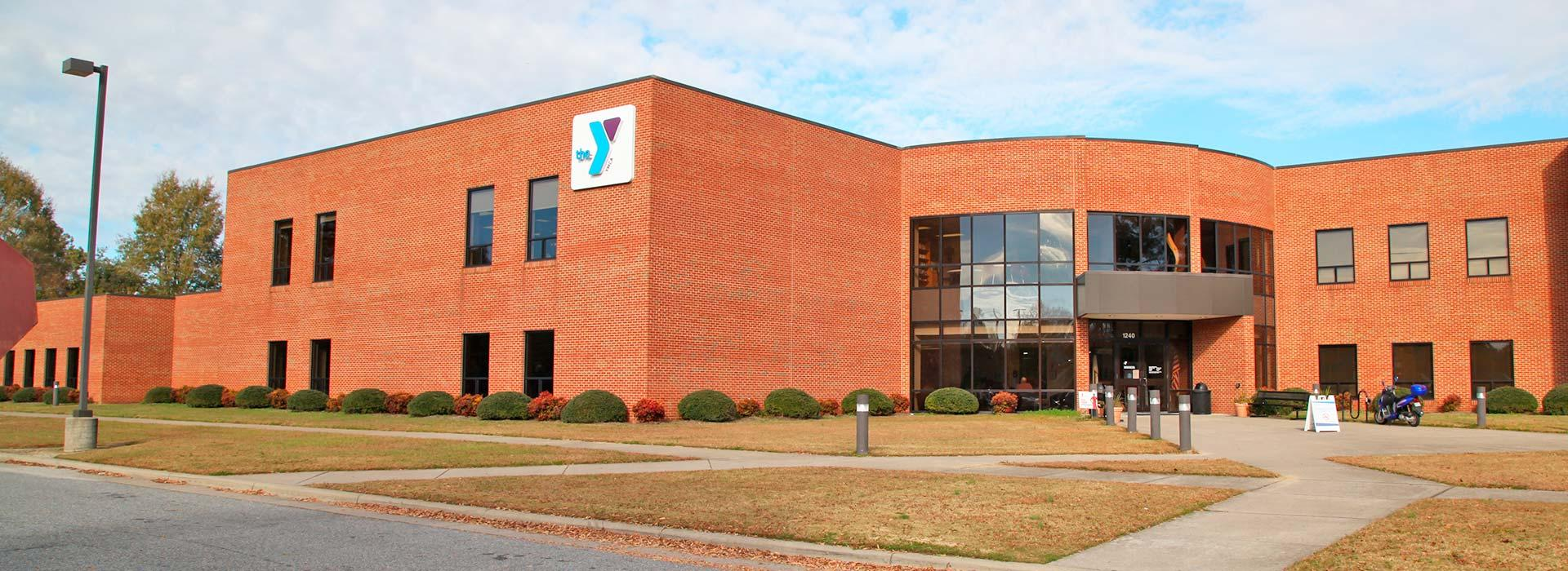 Front entrance of the Albemarle Family YMCA