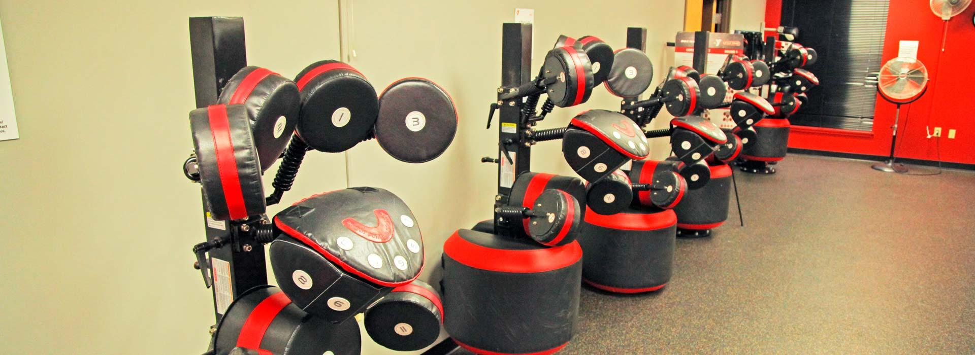 Boxmaster® stations for group boxing workouts at the Albemarle Family YMCA