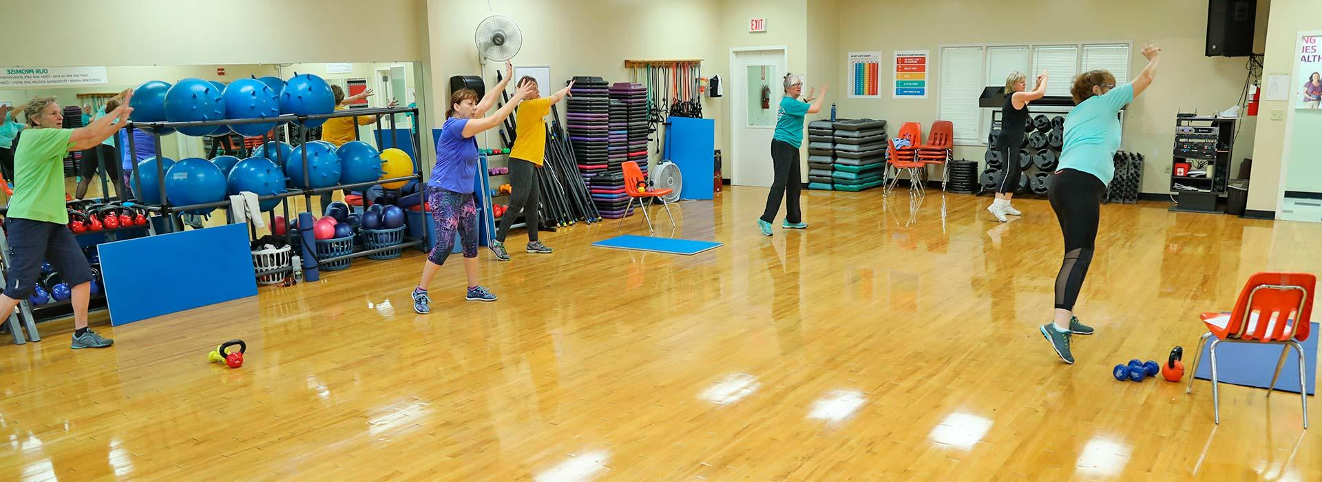 Eastern Shore Family YMCA group exercise room
