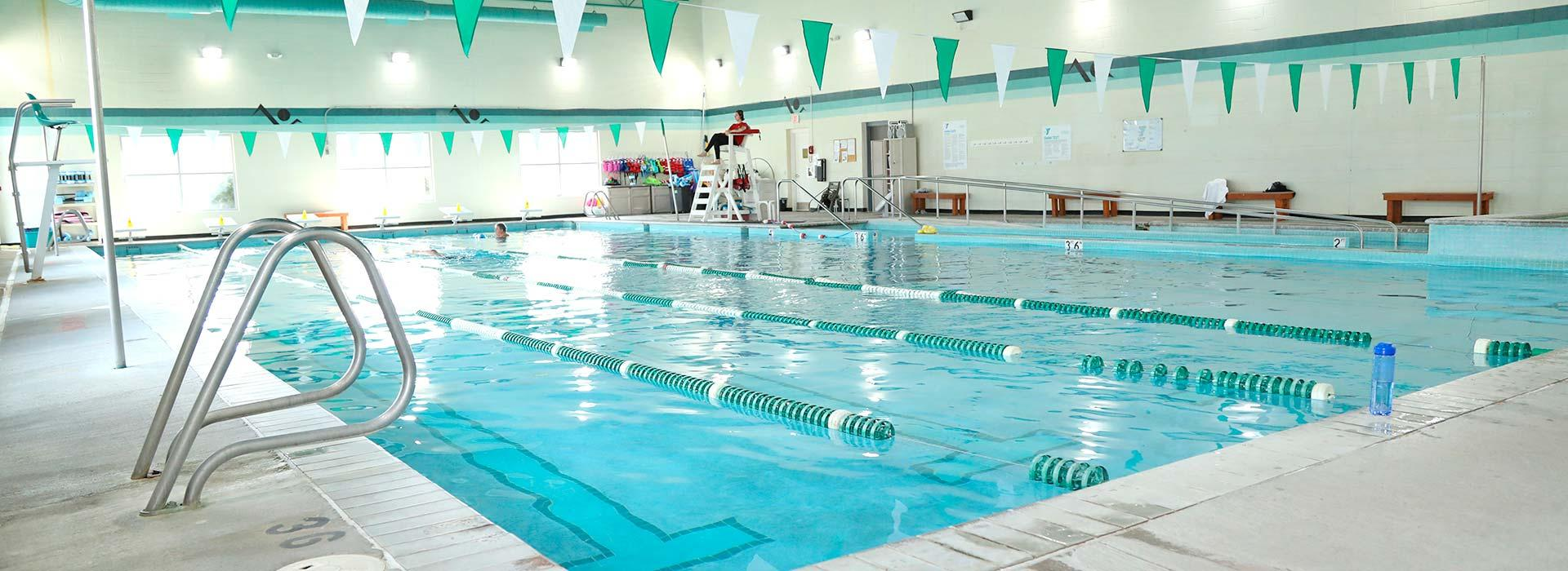 Indoor pool at the Eastern Shore Family YMCA