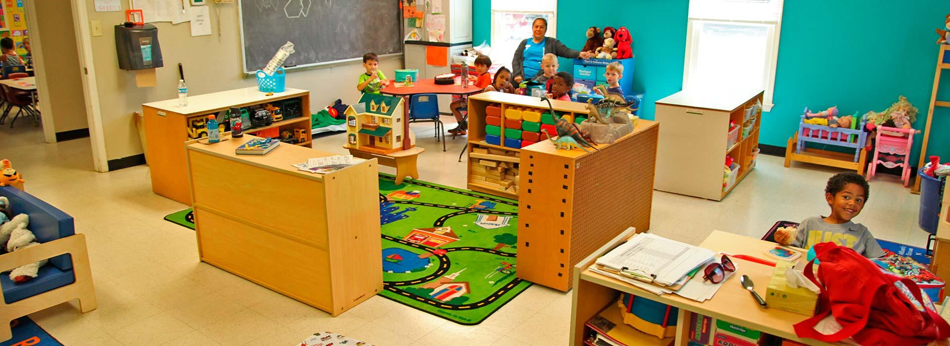 Preschoolers in classroom at Salem YMCA Family Center