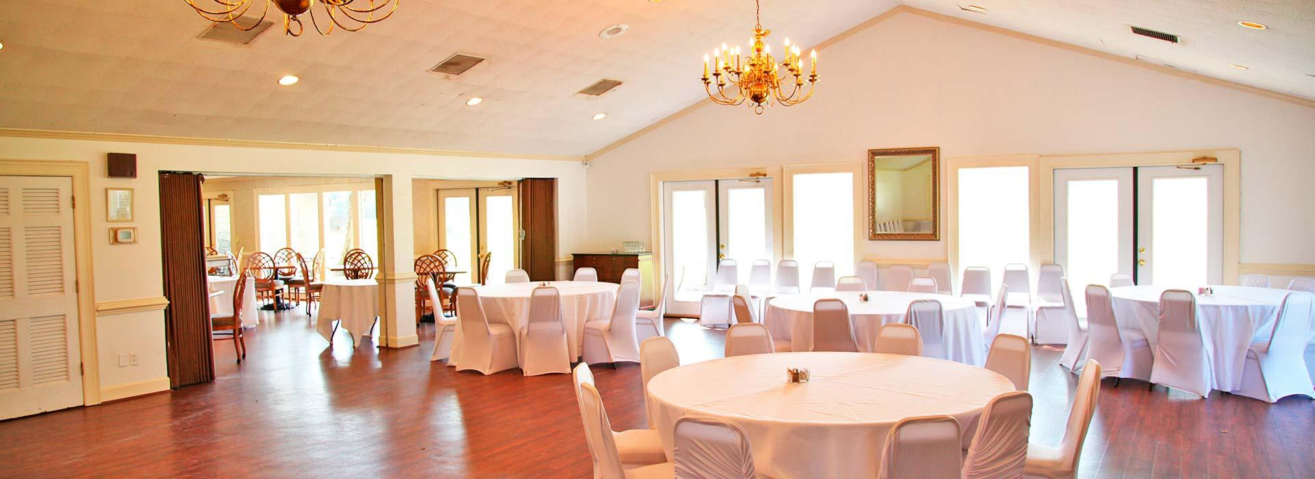 Banquet hall at YMCA of the Pines golf course in Elizabeth City, NC