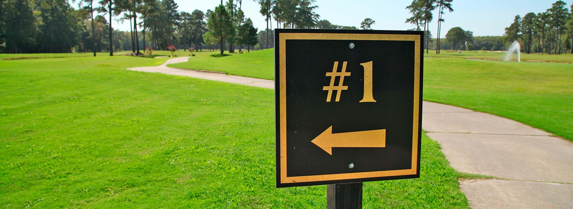 Hole sign at YMCA of the Pines golf course in Elizabeth City, NC