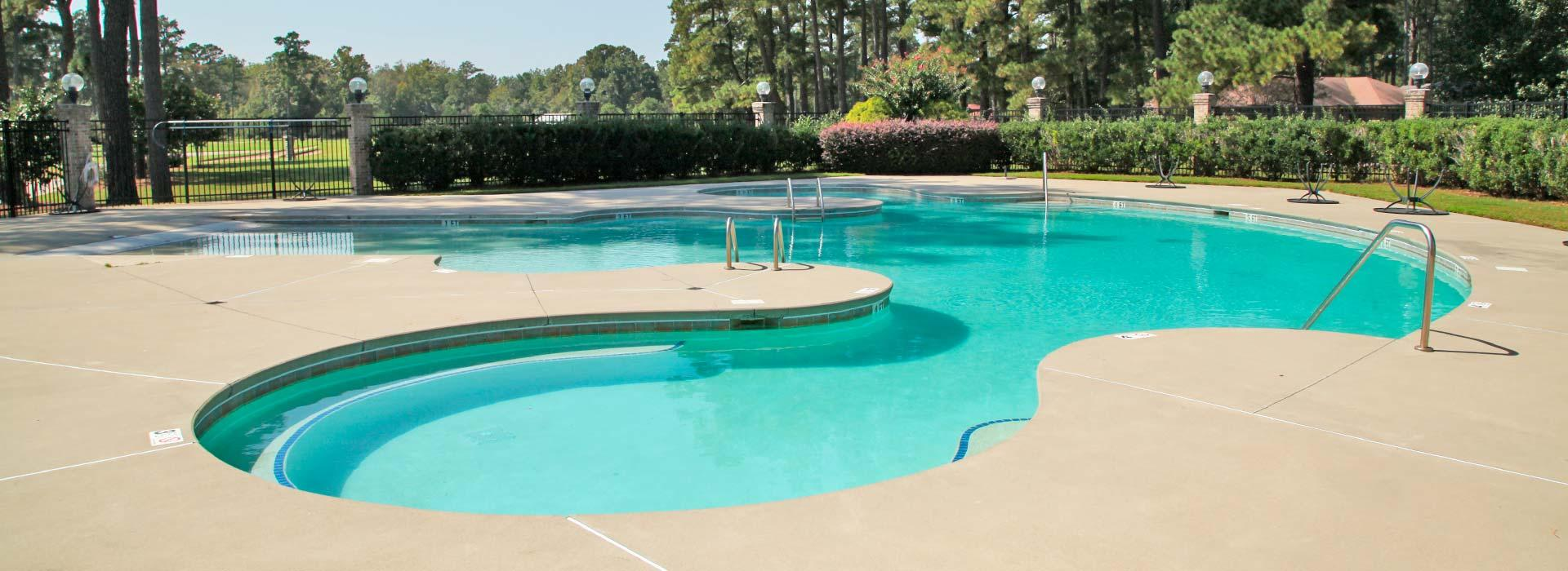 Outdoor poolat YMCA of the Pines golf course in Elizabeth City, NC