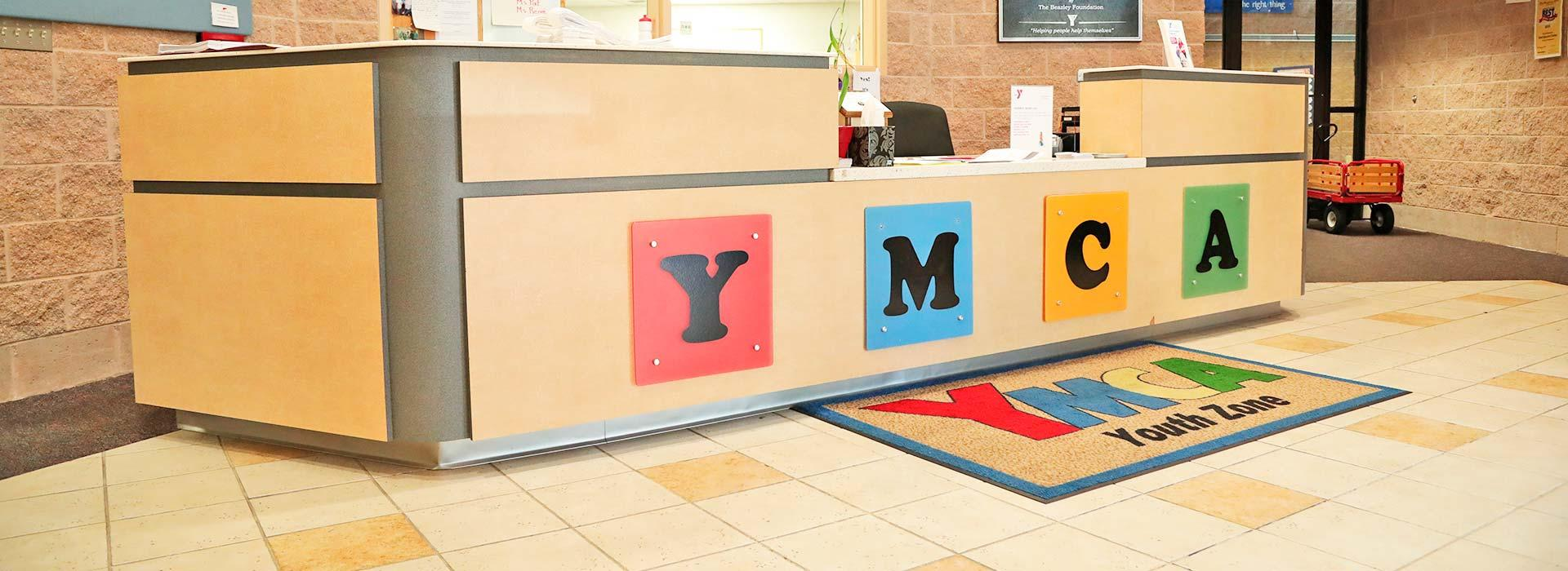 Child Care lobby at the YMCA of Portsmouth