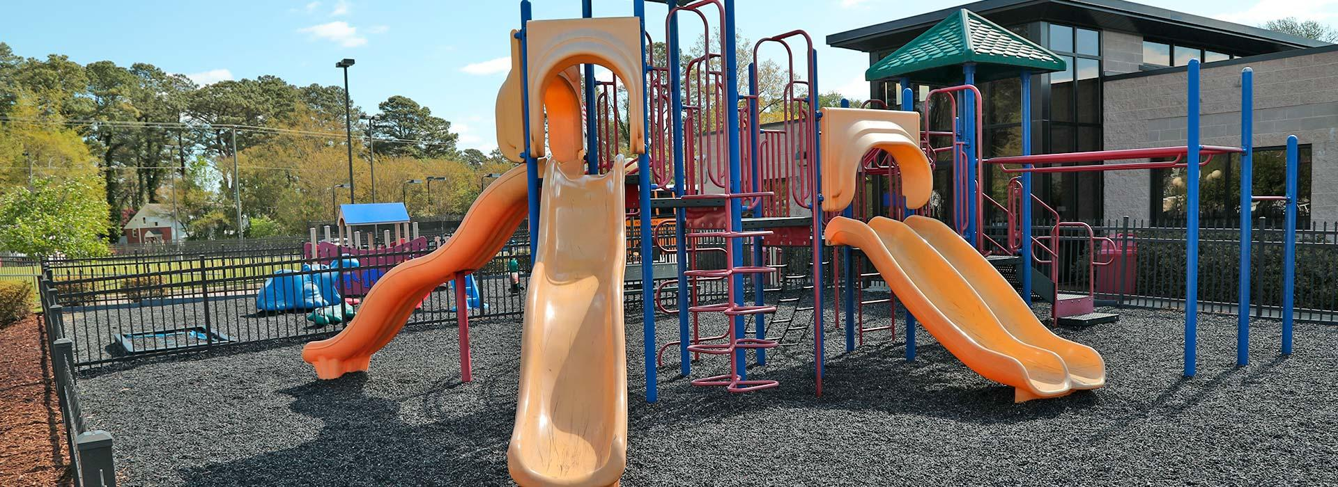 Outdoor playground at the Portsmouth YMCA
