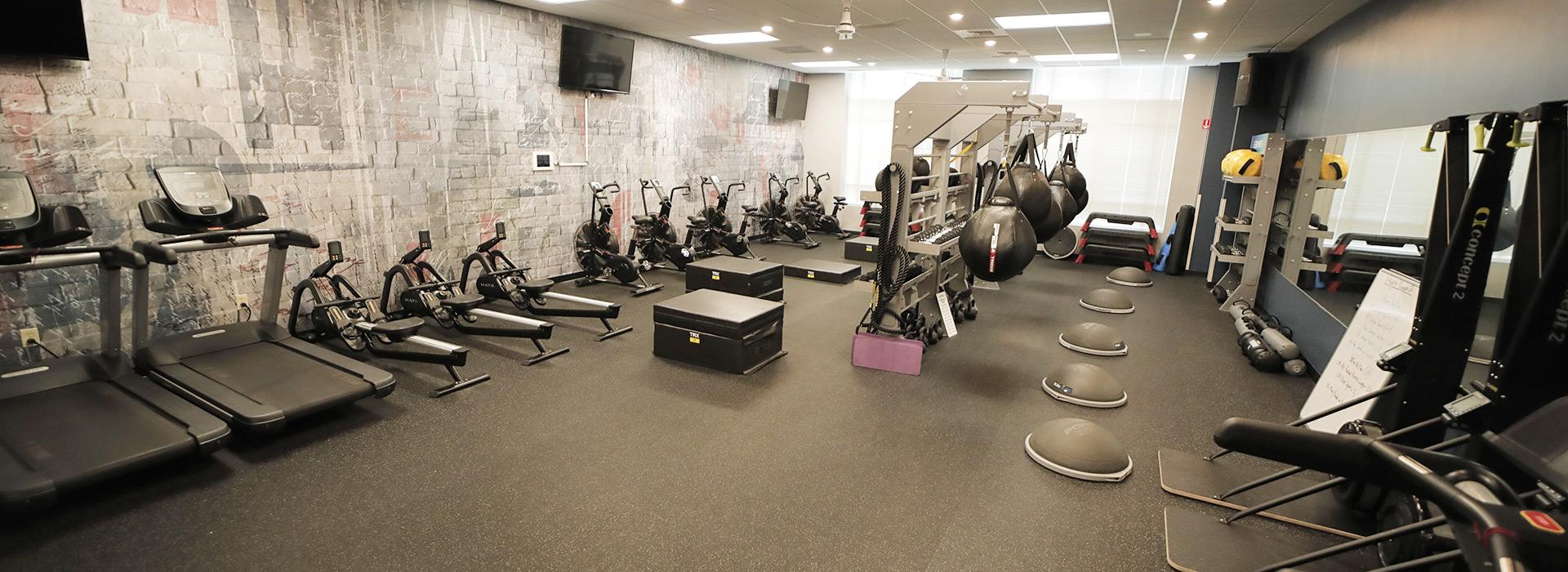 special group exercise room for regymen members