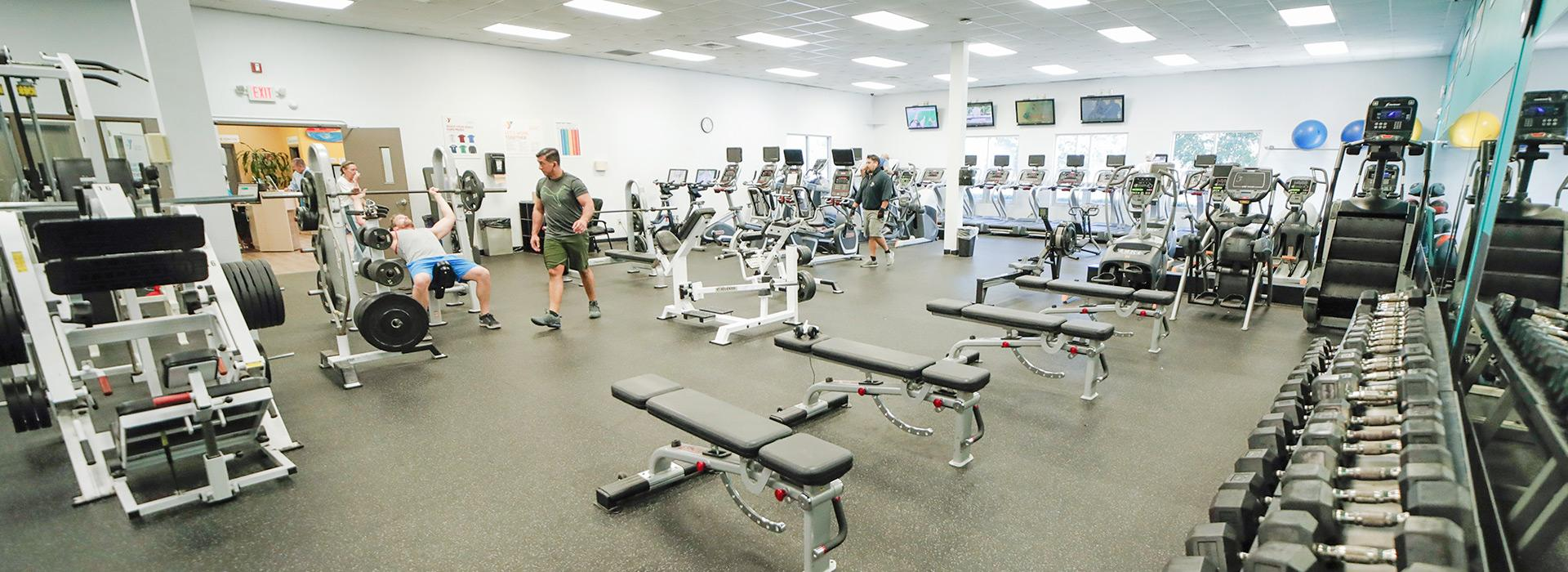 Weight room of Hilltop Family YMCA