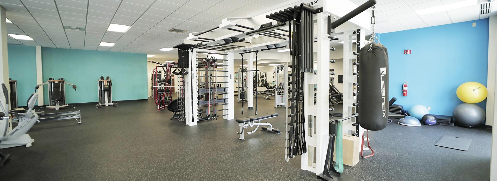 Queenax strength training equipment at the YMCA at Edinburgh