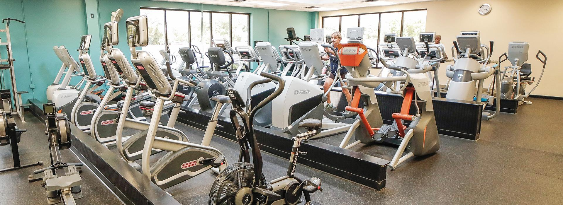 Cardio equipment at the Mt. Trashmore Family YMCA