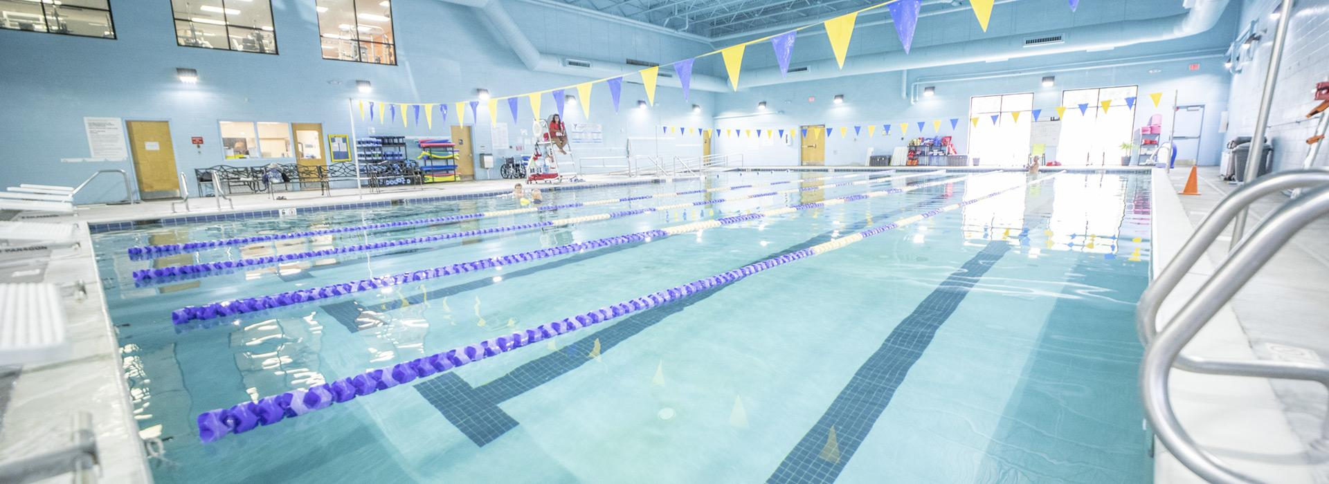 Indoor lap lane pool at the Albemarle Family YMCA