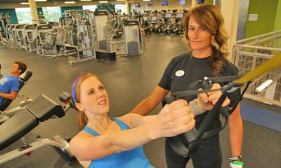 two women in personal training session