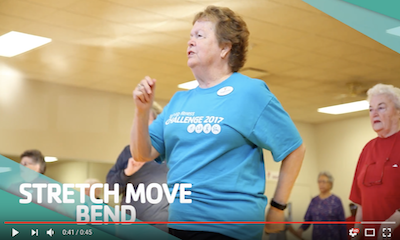 Senior Women in Dance group exercise class